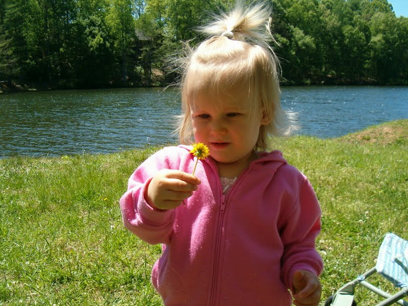 Emma with dandelion